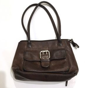 FOSSIL Brown Leather Buckle Purse